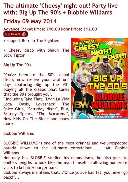 Party Live with Big Up The 90s & Blobbie Williams